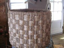 NEIMAN MARCUS HORCHOW  CHECKERED SEAGRASS BASKET BRAND NEW