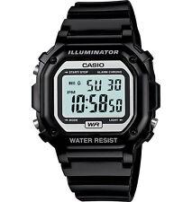 Casio F108WHC-1A Men's Black LED Back Light Chronograph Alarm LCD Digital Watch