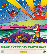 """Peter Max """"Make Every Day Earth Day"""" Lithograph"""