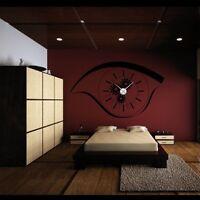 Sticker mural Horloge géante OEIL MECANISME SQUELETTE avec mécanisme aiguilles