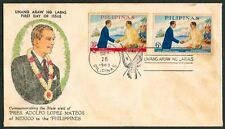 1963 State Visit Of Pres. ADOLFO LOPEZ MATEOS Of Mexico to the Philippines FDC