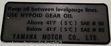 YAMAHA XS750 XS1100 HYPOID GEAR OIL CAUTION WARNING DECAL