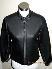 ROXY Quicksilver vegan leather like cropped biker jacket fleece lined stretch S