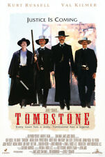 Tombstone Movie Poster 24 x 36 Justice is Coming Kurt Russell Val Kilmer new