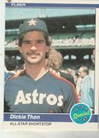 FREE SHIPPING-MINT-1984 Fleer #634 Dickie Thon - All-Star Shortstop +BONUS CARDS
