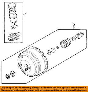 HONDA OEM 2002 Passport-Brake Master Cylinder 8972881610