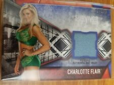 2017 Topps WWE Women's Division Charlotte Flair Survivor Mat Relic 151/199