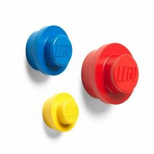 OFFICIAL LEGO WALL HANGER 3 PIECE SET CHILDRENS – YELLOW + RED + BLUE