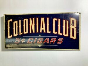 Colonial 5cent Cigars Enamel Sign
