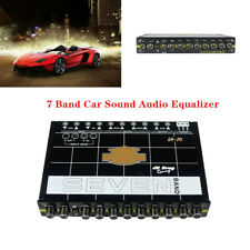 7 Band 12V Car Sound Audio Equalizer EQ w/ Front Rear + Sub Output EQ7 IA-10