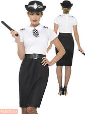 Ladies Police Lady Officer Costume Women Cop Fancy Dress Outfit British Woman