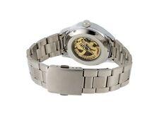 SINOBI 209 Hollow-carved Roman Numbers Display Watch Dial Luminous Hand Round