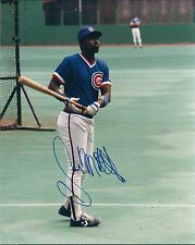 Signed  8x10 GARY MATTHEWS Chicago Cubs Autographed photo - COA