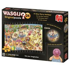 Wasgij Puzzle 1000 Piece Cartoon Jigsaw Very Merry Holiday Comic Original #24