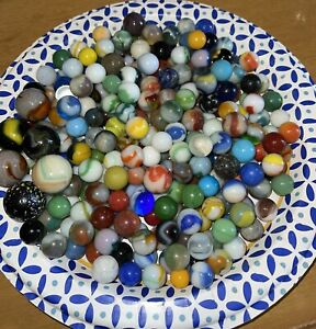 Awesome Lot of Old Vintage and Antique Marbles Collection Unsorted
