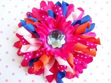 """NEW Custom """"PINK PERIWINKLE KORKER"""" bOuTiQuE Gerber Daisy Hair Bow Clip"""