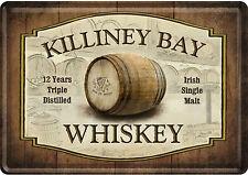 NOSTALGIC Art Killiney Bay WHISKY IRISH SINGLE MALT lamiera cartolina 14 x 10 cm