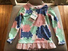 RuffleButts Nordstrom NWT Petals Seersucker Longsleeve Swim Shirt Toddler 3T