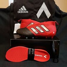 Adidas ACE 17+ Purecontrol FG Soccer Football Cleats (US 9) Red/Silver/Black