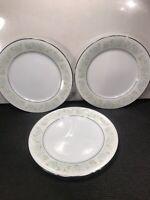 3 NORITAKE PLATES ''PAULA'' #2158 DINNER PLATES   10 1/2''