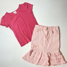 Jade Mackenzie Hanna Andersson Pink Skirt And Top Outfit Set Modest 10-12 140