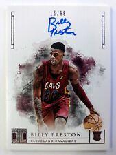 2018-19 Panini Impeccable Billy Preston Autograph Rookie RC #103, #'d /99, Cavs