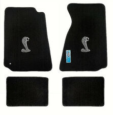 LLOYD Heavy Plush™ Cobra logo FLOOR MATS; 94-04 MUSTANG coupe; 99-04 convertible