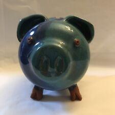 Piggy Pig Bank Modern Art Studio Glazed Pottery Stoneware - Missing Cork