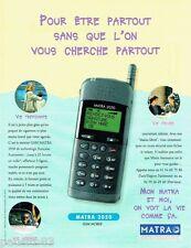 PUBLICITE ADVERTISING 116  1996   Matra 2050    le gsm mobile