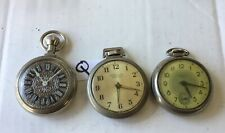 3 Dollar Men's Pocket Watches RUNNING Watchmakers Estate (not timed)