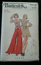 Butterick 6972 size 8 Misses Two Piece Dress, Top & Pants Sewing Pattern