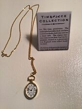 W/Gold Plated Chain. New W/O Tag Van Cort Instruments Petite Watch Pendant