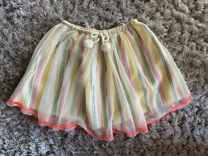 Zara Striped Skirt 3-4 Bnwt