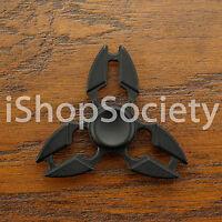 Metal Tri Fidget Hand Spinner Figet Spinners EDC Gyro Desk Toy ADHD -USA- BLACK