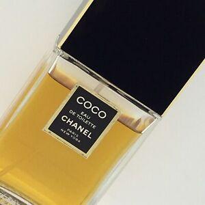 """Chanel Coco Eau de Toilette 3.4 Oz Fl 100 mL Vintage 1990s Used 6"""" Bottle"""