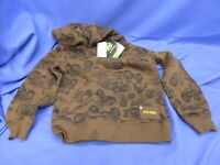 NWT Brown John Deere Hoodie 5/6 Hooded Sweatshirt  M(5/6)