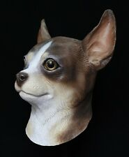 Chihuahua Dog Mask Chiwawa Latex Fancy Dress Canine Costume Halloween Pet Animal