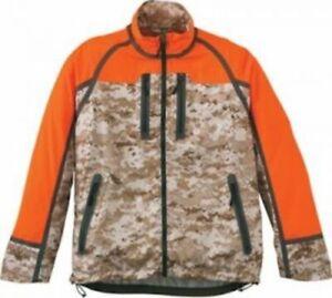 Cabela's Men's RNP Upland Pro Blaze Tan Camo Windproof Waterproof Hunting Jacket