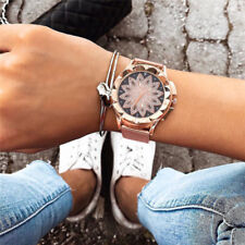Ladies Women Watches Crystal Flower Mesh Watch Stainless Steel Creative Gifts
