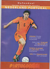 Programme / Programma Holland v Portugal 30-04-2003 friendly