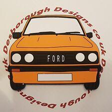 Ford MK2 Escort Rs 2000 Large Fridge Tool Box Magnet Coaster Signal Orange