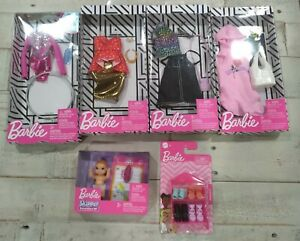 Barbie Clothes And Accesories lot 6 packages shoes baby new sealed