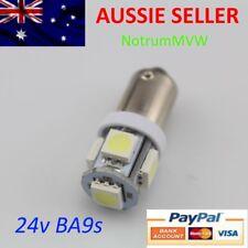 2x 24V LED T11 BA9S T4W 1895 Truck Caravan Boat 4WD Bayonet Light Bulb Globe