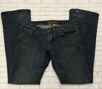 Dollhouse Womens Jeans Juniors Size 5 Boot Cut Leg Low Rise Stretch Blue Denim