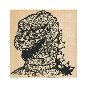 Godzilla RUBBER STAMP, King of Monsters, Monster, Godzillasaurus, Horror Movie