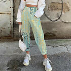 Women's Casual Pants Trousers Elastic-waisted Printed Drawstring Trousers Pants