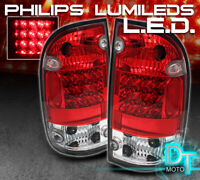 For 2001-2004 Toyota Tacoma Pickup Lumileds LED Red Clear Tail Lights Left+Right