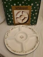 "Pfaltzgraff  Winterberry 5 Sectioned Divided Serving Round Platter 16"" NEW"