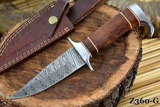 Custom Damascus Steel Hunting Knife Handmade With Walnut Handle (Z360-G)