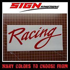 Racing Sticker / Vinyl / Decal